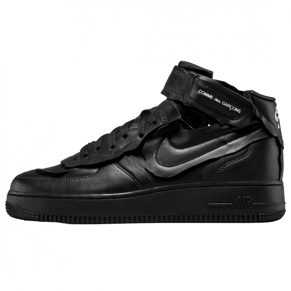 Comme Des Garcons x Nike Air Force 1 Mid (Black)